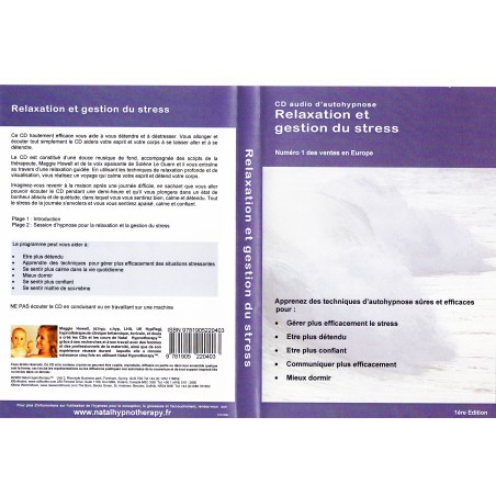 CD relaxation et gestion du stress NatalHypnotherapy
