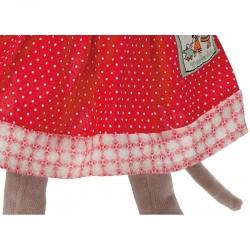 Peluche Nini la souris détails robe